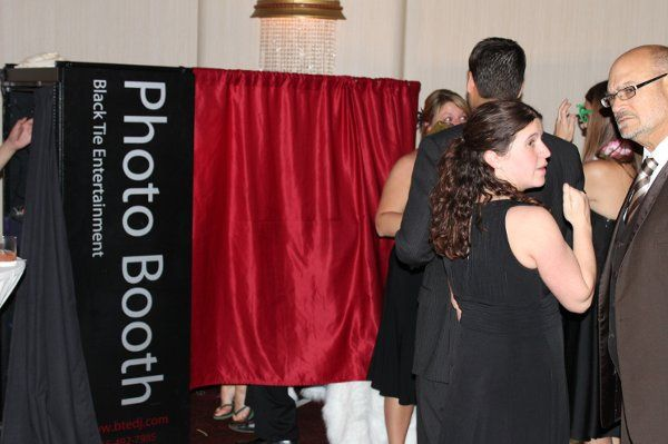 Photo Booth Black Tie Entertainment Syracuse Utica wedding DJ at Oneida Room Turning Stone