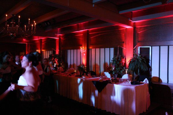 Red uplighting, The Beeches, Rome, NY Black Tie Entertainment DJ Photo Booth