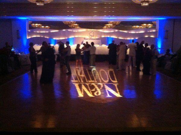 Douthit Reception, Turning Stone Casino, Oneida Room, name projection, Black Tie Entertainment DJ...