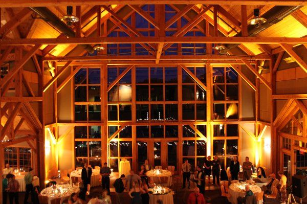 Welch Allyn Lodge, Skaneateles, amber uplighting by Black Tie Entertainment DJ Photo Booths
