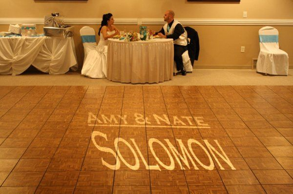 Name in light, Maplewood Inn, Liverpool, NY Amy & Nate Soloman by Black Tie Entertainment