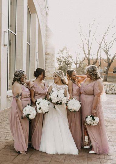 Bridesmaids happy