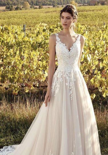 Bride at vineyard