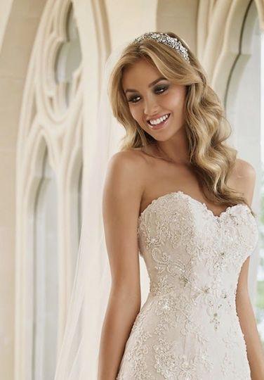 Bride with huge smile