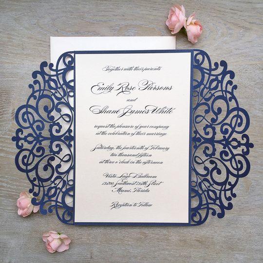 paper & lace, wedding invitations, florida - miami, ft. lauderdale, Wedding invitations
