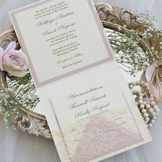 Paper Lace Invitations Fort Lauderdale Fl Weddingwire