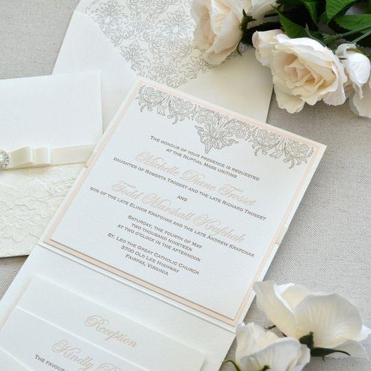 Letter press invite