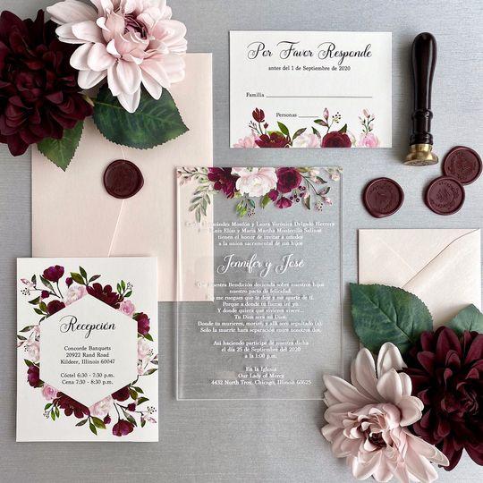 Blush and Burgundy Flowers