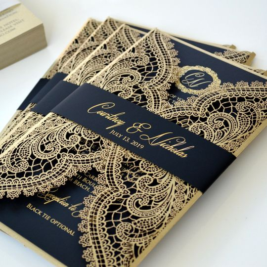 Gold foil chantilly
