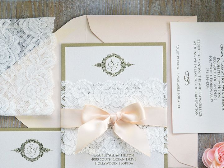 Tmx 1502304180121 Sarah Lace Band1 Fort Lauderdale, FL wedding invitation