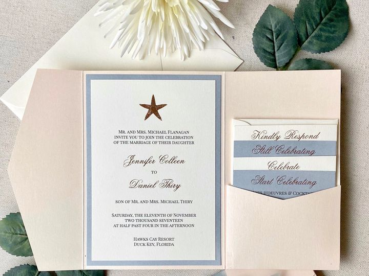 Tmx Blush And Dusty Blue Starfish Invitation Suite 51 722511 159296858080930 Fort Lauderdale, FL wedding invitation