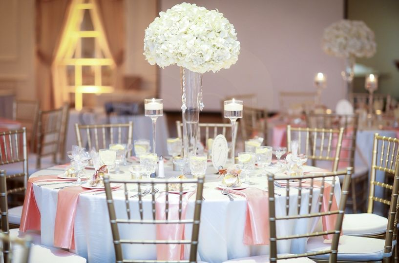 Beautiful table setup and floral centerpiece