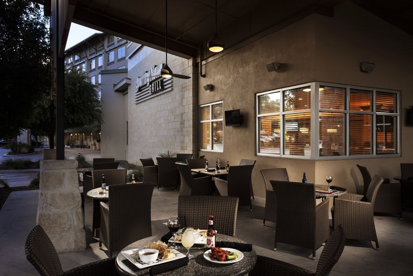 The Grill provides outdoor dining