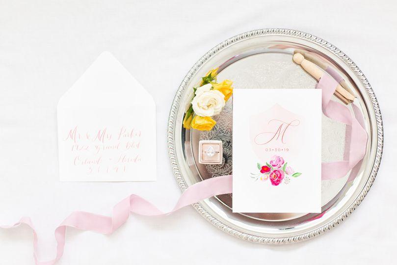 Custom watercolor invitations