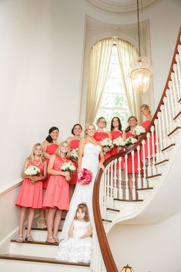 A blush pink bridal party
