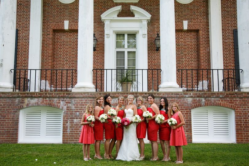Bridal party excited about the big day