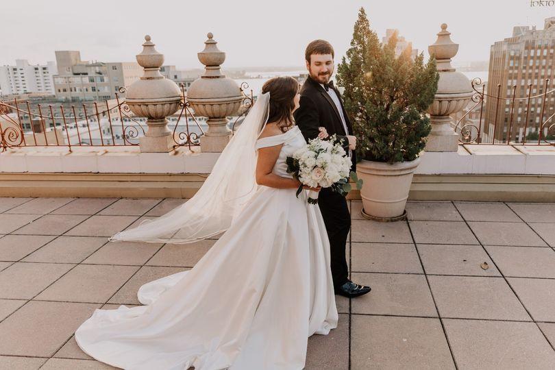 Emily + Clark Rooftop Wedding