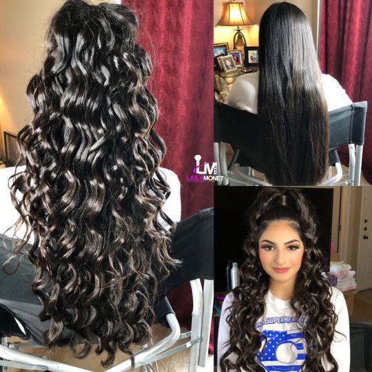 Tumbling curls