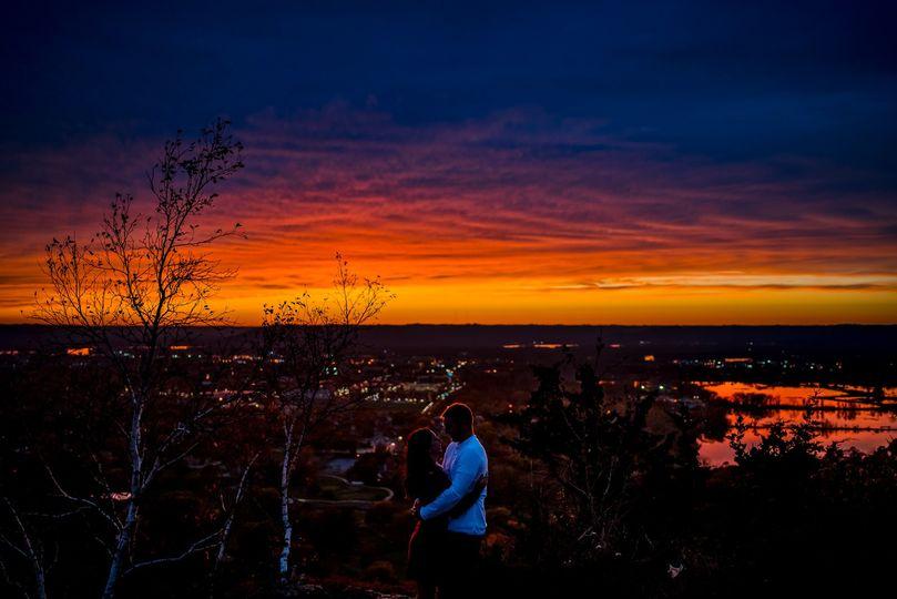 Epic sunset Engagement