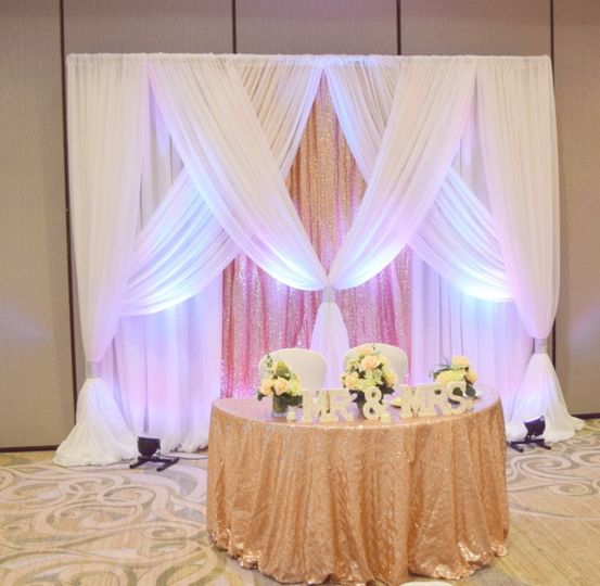 Lights in draping