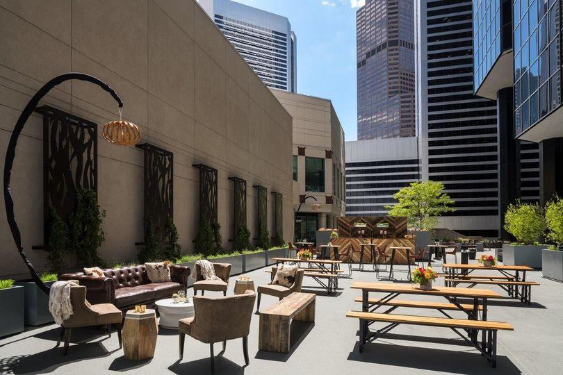 The outdoor terrace at The Ritz-Carlton, Denver.