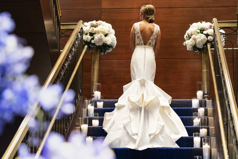 the ritz carlton denver weddings bride grand staircase artful detail 51 597511 v2