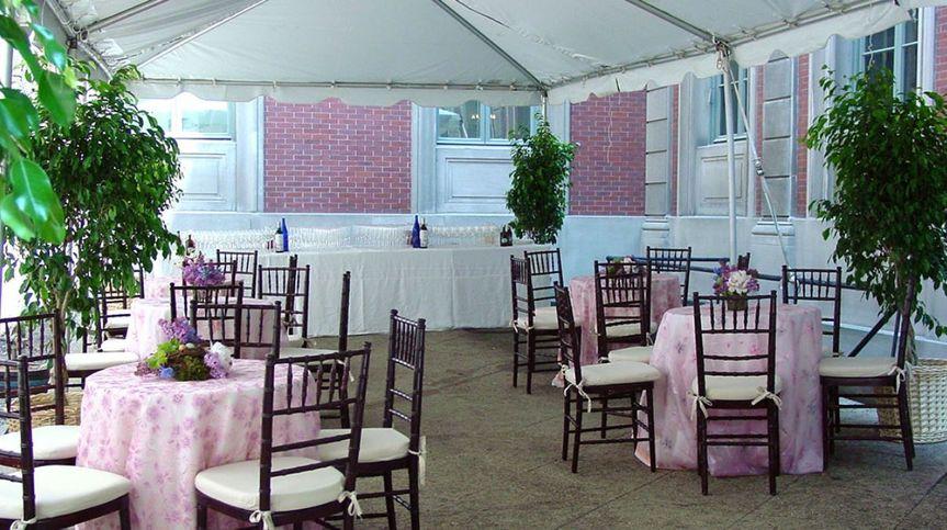 Courtyard reception