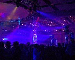 30ft circle truss. 8 12ft vertical truss circling the dance floor.