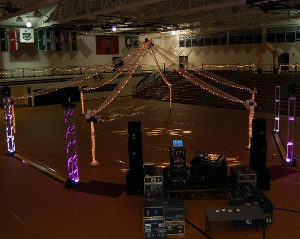 LEHS Homecoming setup with ALS