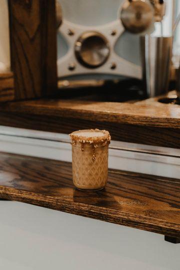 Passion Fruit Caramel Latte