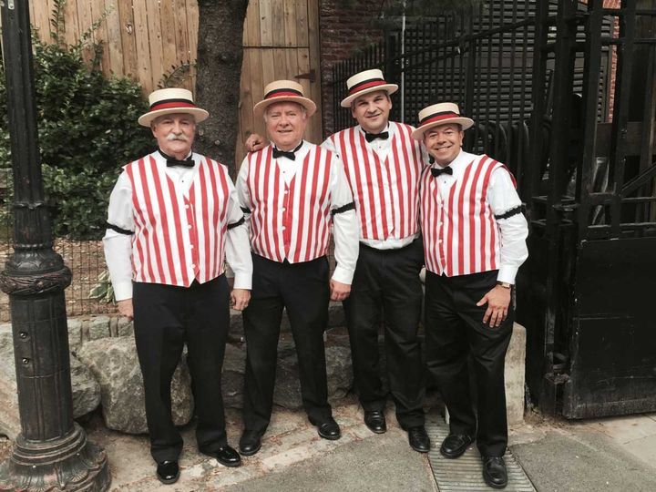 Barbershop quartets, provided by Twisted Mustache. We have more than 20 years of singing experience....