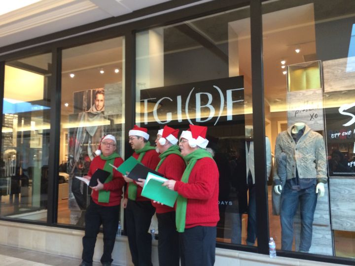 Acappella Christmas carolers - hire for your next corporate Christmas party or event
