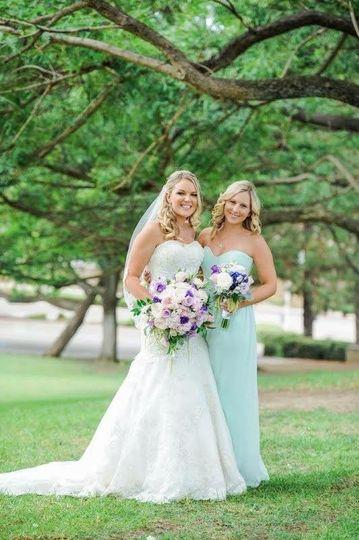 Bride and a bridesmaid