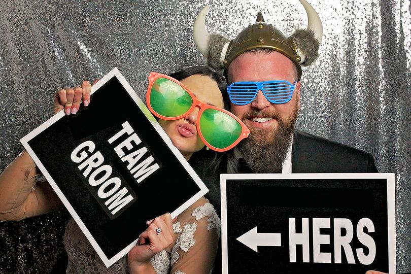photo booth wedding props his