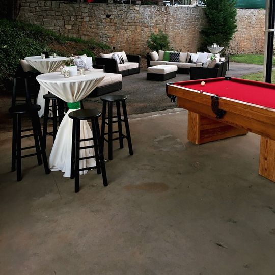 Cocktail area and pool table