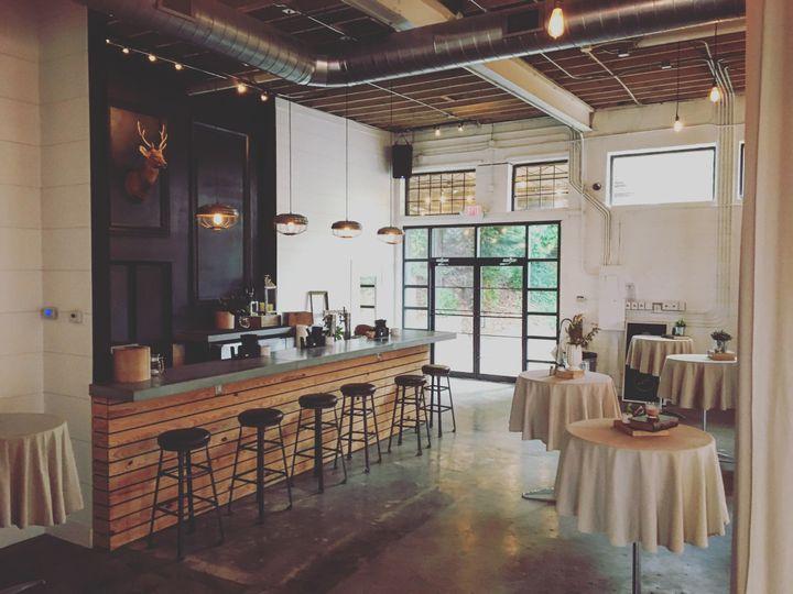 Bar and cocktail setup