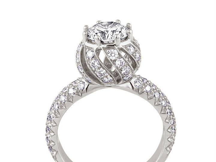 Tmx 1449596423239 18kwhitegoldtulippavediamondengagementrings234pwc1 Brooklyn wedding jewelry