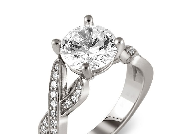 Tmx 1449678245970 18kwhitegoldintertwinedpavediamondengagementringse Brooklyn wedding jewelry