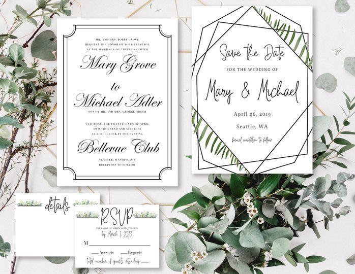 Ornate invitation pieces
