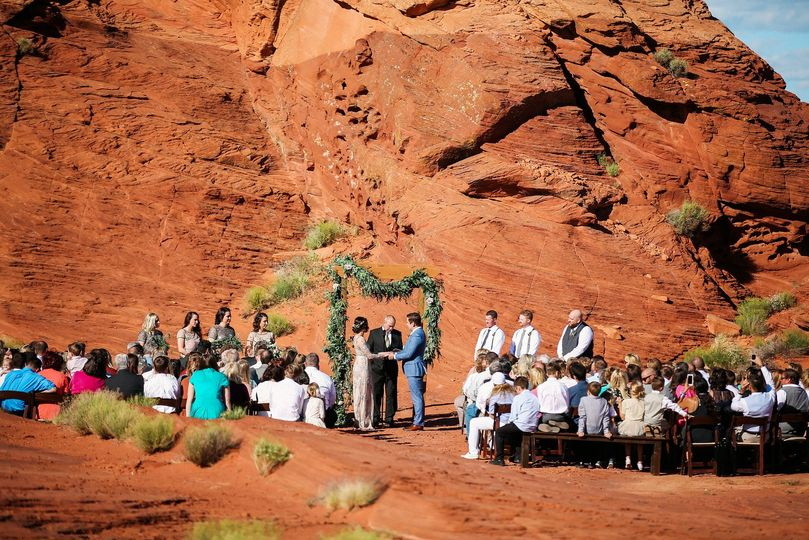 Ceremony at sand hollow