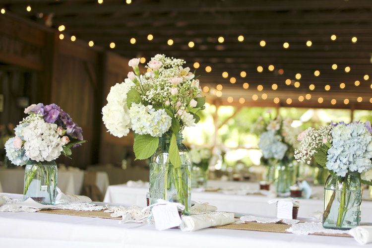 An array of table arrangements