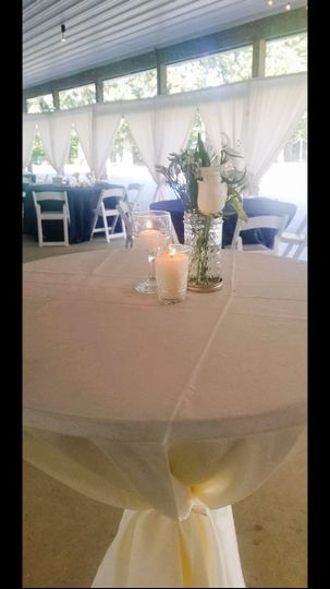 Cocktail table set up