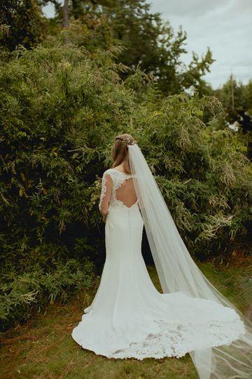 Bridal portraits, dress back