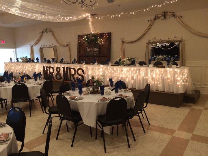 Wedding recepiton setup