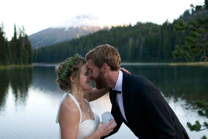 Bride and groom, Todd Lake