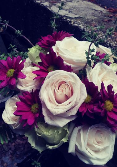 Charming blush rose and daisy