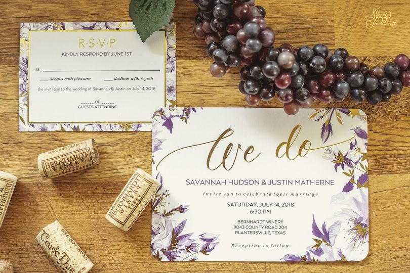 Wine themed invites