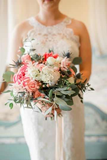 Coral bouquet