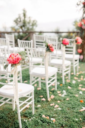 Aisle markers coral