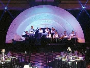 Mirage Big Band Orchestra provides it's own high quality sound system and stage lighting. Art Deco...